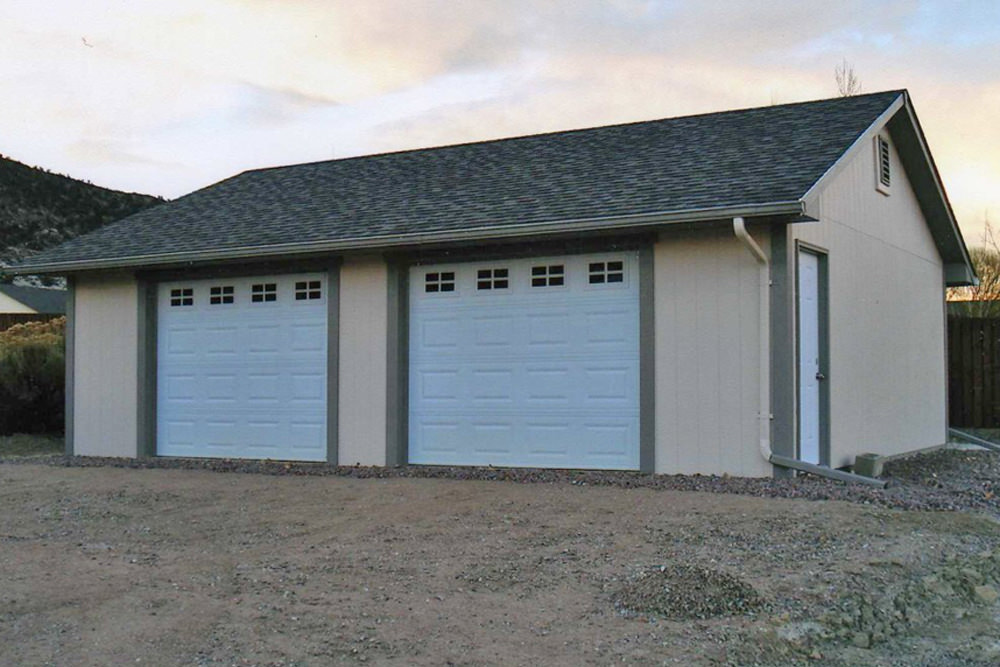 Buy 2 car garage on the eastern slope of colorado for Prefab 2 car detached garage