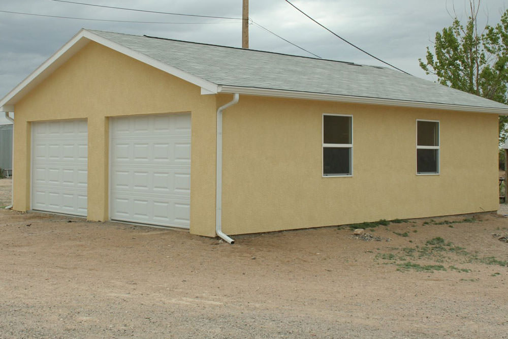 2 car garage prices on the eastern slope of colorado for Two car garage shed