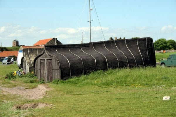 Garden Shed made from an old boat
