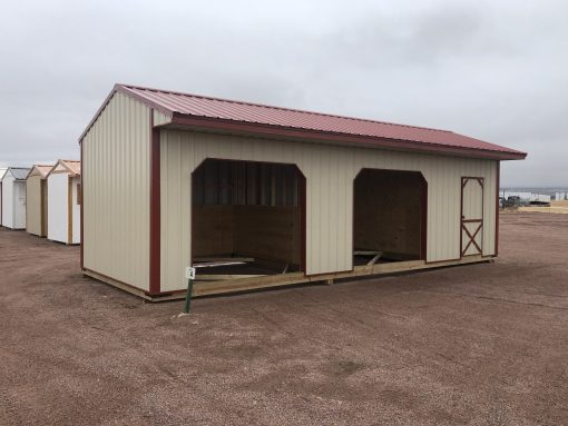 12x32 Loafing Shed with Tackroom 1