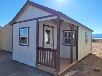 12x24 Gable Style Shed w/Porch 10