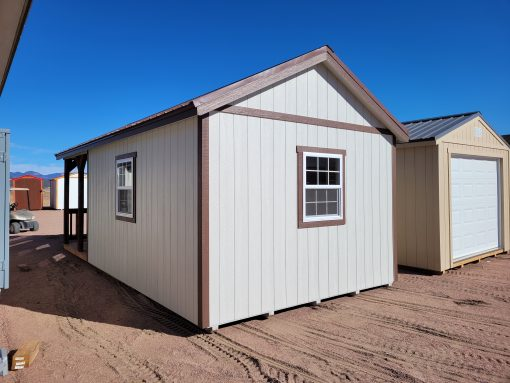 12x24 Gable Style Shed w/Porch 6