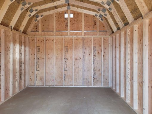 12x16 Barn Style Shed 8