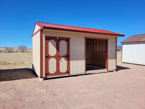 10x18 Loafing Shed w/Tackroom 1