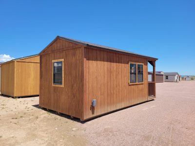 10x20 Gable with Porch (with Interior Finish) 12
