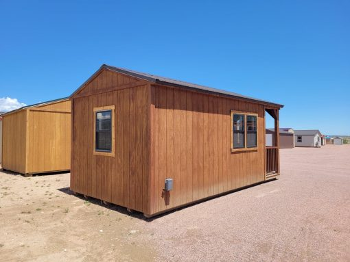 10x20 Gable with Porch (with Interior Finish) 6