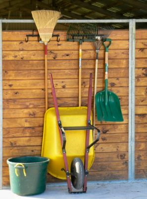 cleaning supplies required to clean out barn stalls every day