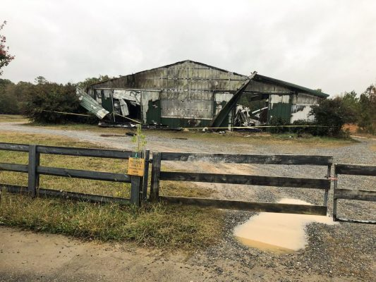 barn fire that killed 19 horses locked in the barn stalls