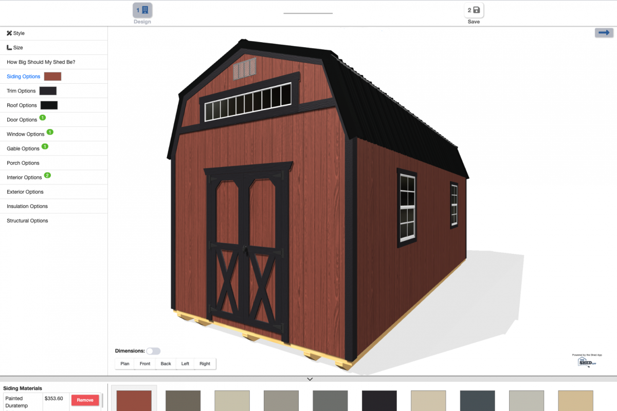 How To Use Online 3D Shed Builder 1