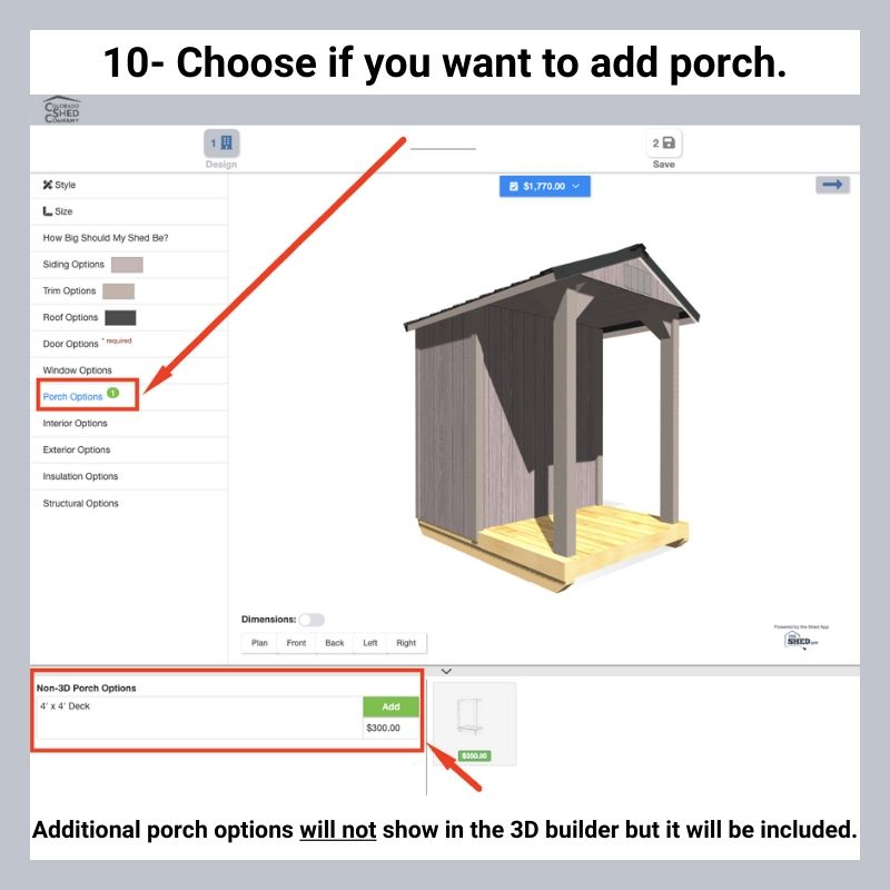 How To Use Online 3D Shed Builder 12