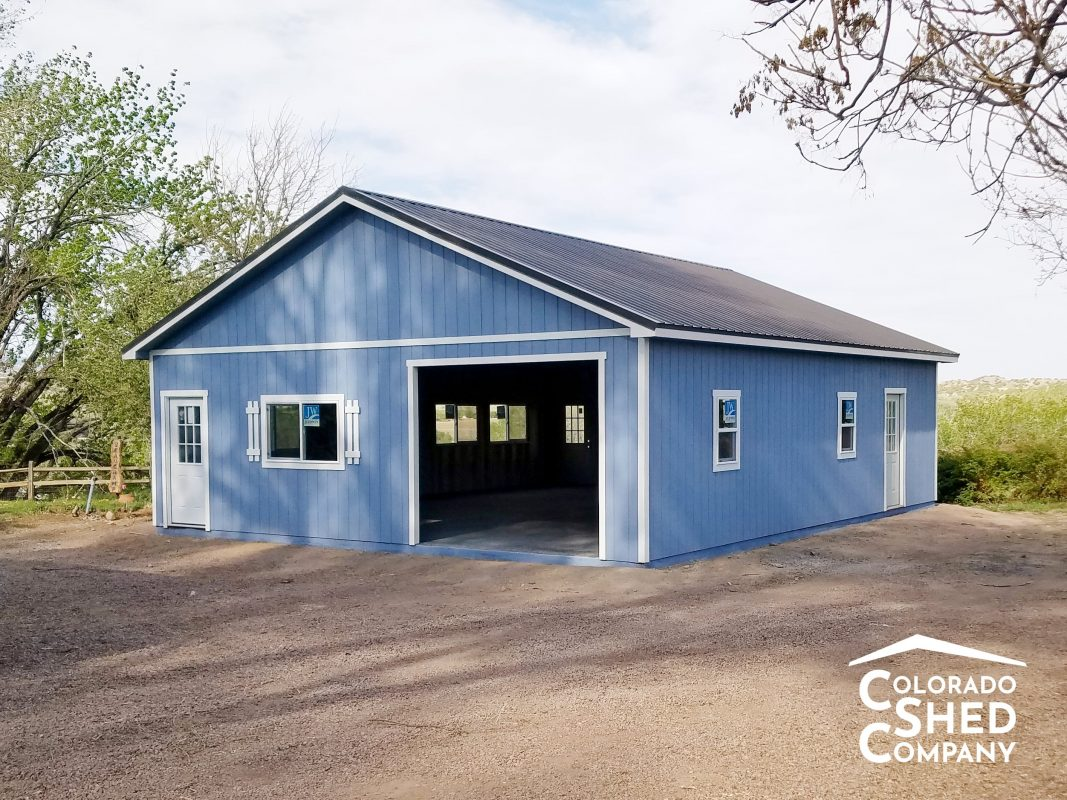 detached garages in custer county