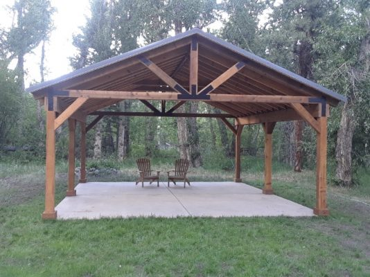 Relax In Your wood pavilion in colorado